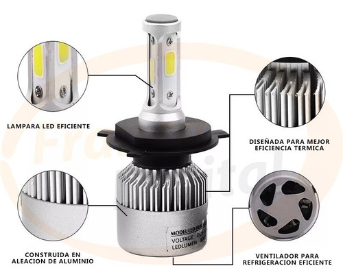 lámparas luces cree led auto h1 h3 h4  h7 h8 h9 h11  8000l