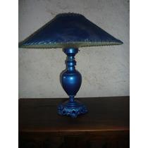 Lampara De Mesa Decorativa Azul Porcelana Sala Comedor Estud
