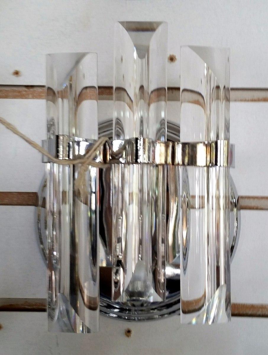Lamparas modernas apliques para pared de cristal oro y - Pared cristal ...