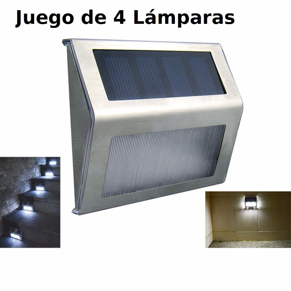 L mparas panel solar exterior 4 lamparas envio gratis en mercado libre - Lampara solar exterior ...