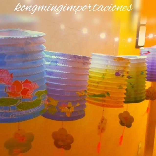 Pantallas lamparas faroles de papel chinos decoraci n - Decoracion de lamparas de papel ...