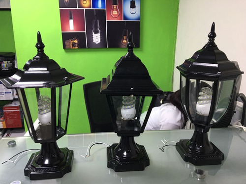 lamparas para columnas con bombillo led incluido