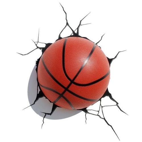 lamparas para pared 3d pelotas de basketball led relieve