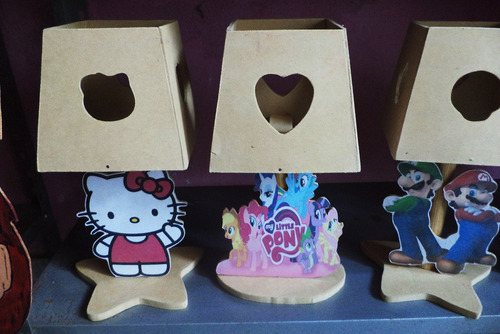 Lamparas para pintar centro infantil personalizados madera - Lamparas de madera para pintar ...
