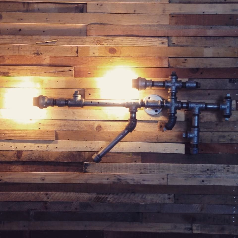 Lamparas pared techo cabecera tubos pipes vintage edison for Decoracion para pared en hierro