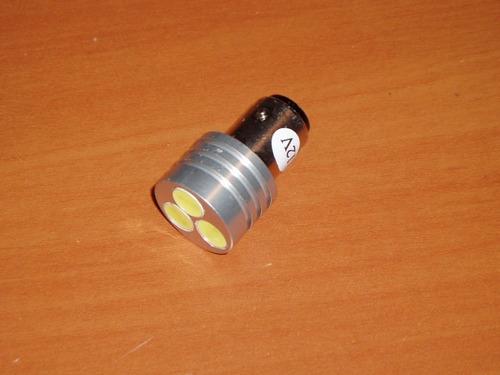 lamparas pase 1156  de 3 leds blancos de 1w , para frenos