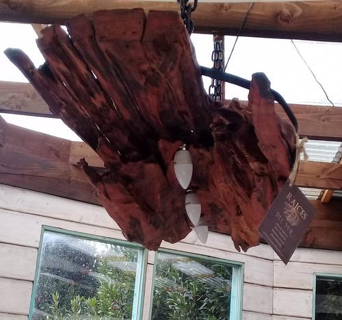 lamparas rusticas madera nativa
