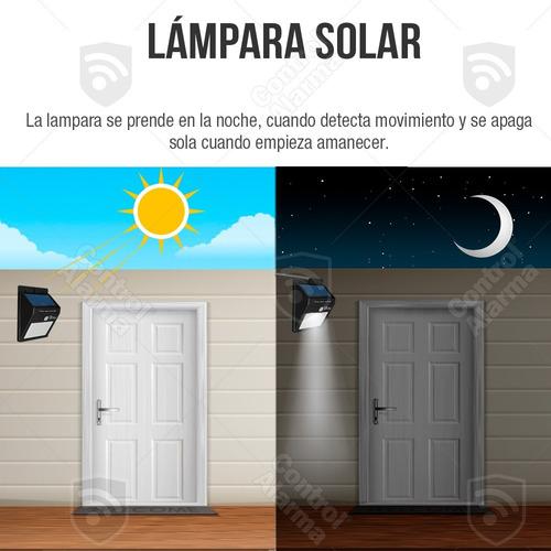 lamparas solar 20 led reflector exterior sensor movimiento