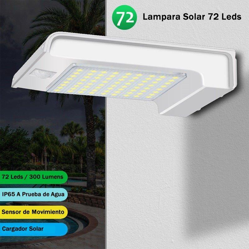 08a2ec8cadae7 Lamparas Solar 72 Led Jardin Luz Reflector Exterior -   449.00 en ...