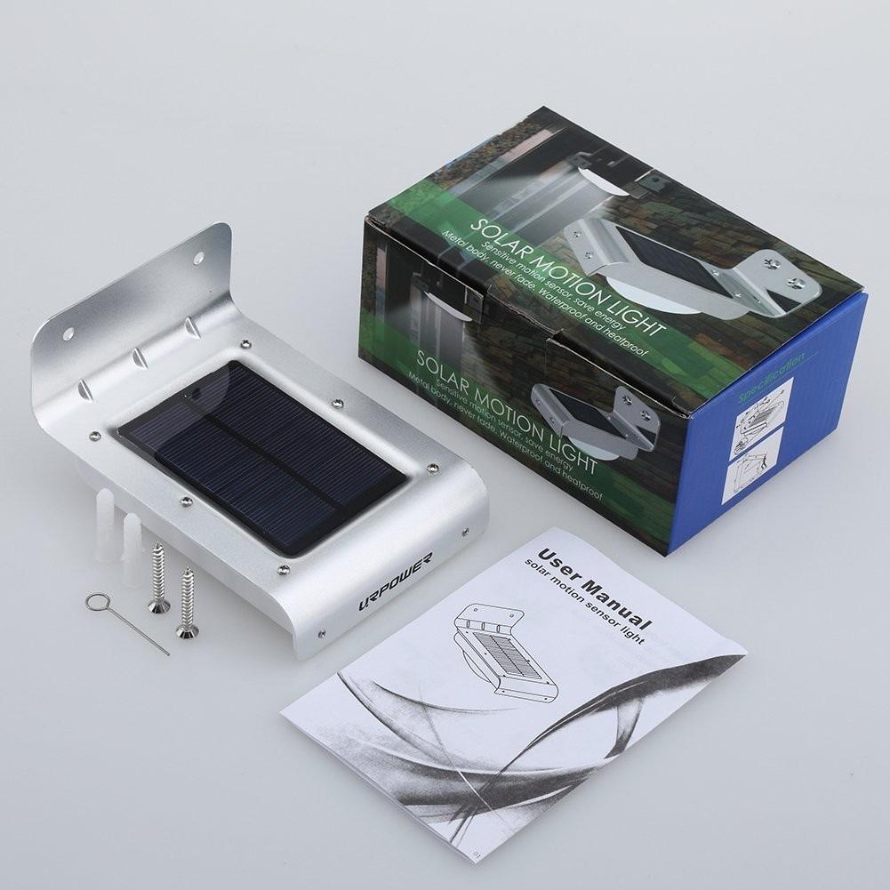 Lamparas solar p exteriores luz led con sensor de for Lamparas led para exteriores