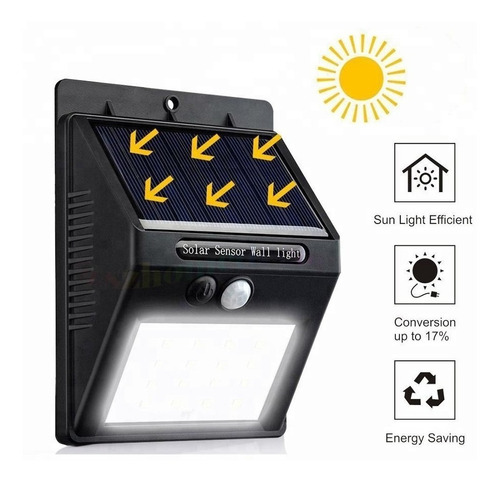 lamparas solares 35 led sensor movimiento impermeable ip65