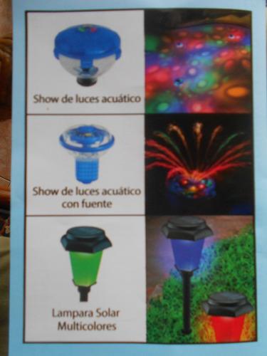 lamparas solares multicolores