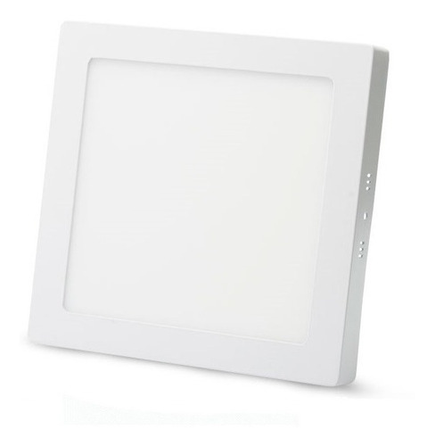 lamparas techo pared panel led maxi light 6w12x12 sobreponer