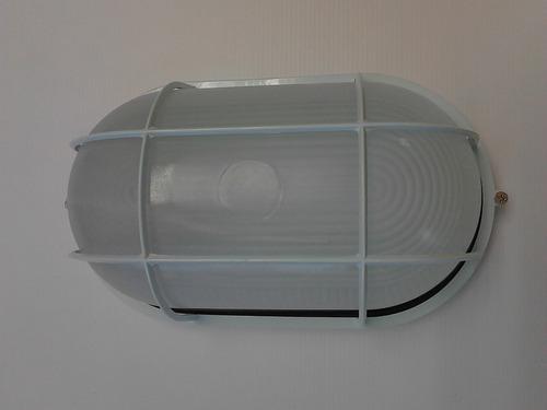 lamparas vapoleta 100w de aluminio e-27 c/protector grande