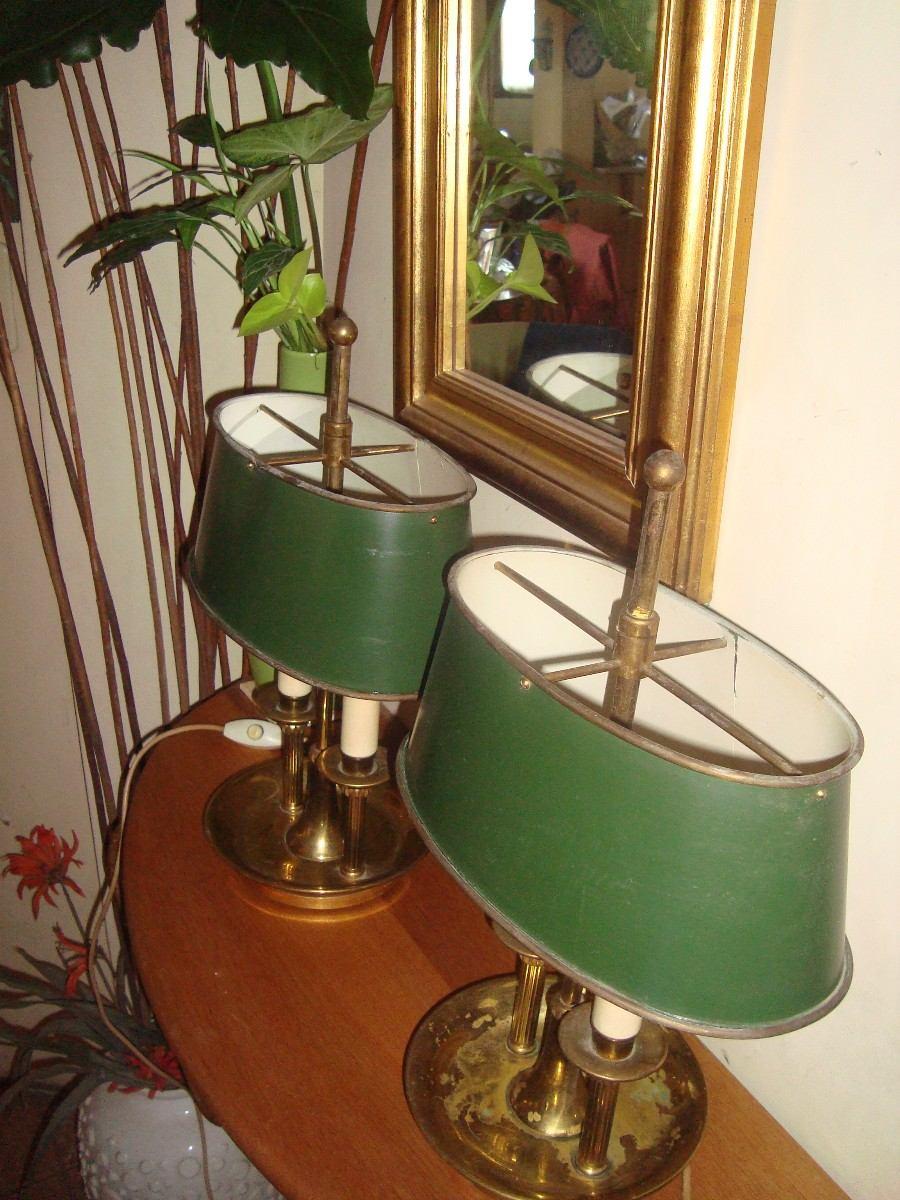 lamparas velador bronce antiguo estilo ingles pantalla metal