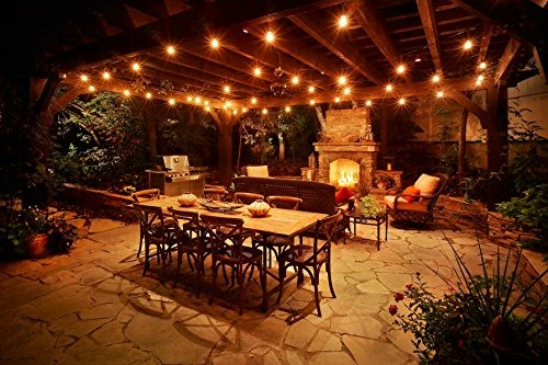Lampat cadena de luces vintage patio trasero patio de for Patio de luces normativa