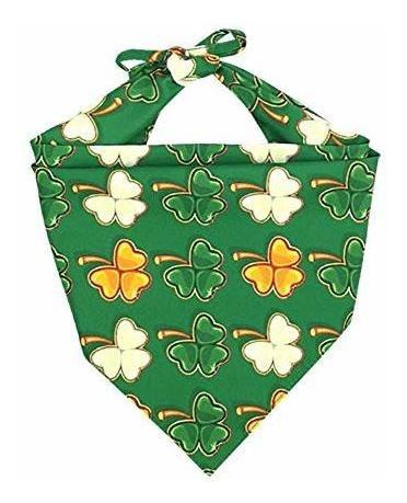 lamphyface 3 paquete st. dia de patrick perro bandana triang