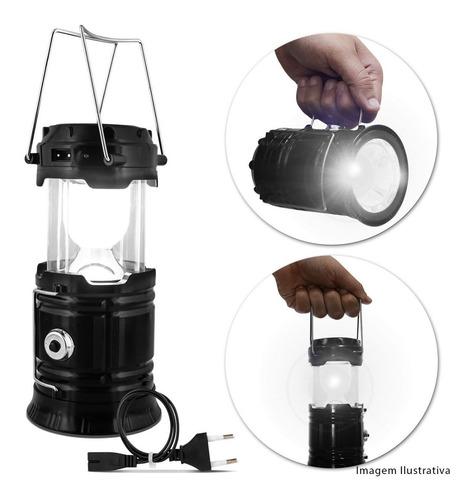 lampiao luminaria eletrico recarregavel solar led para pesca