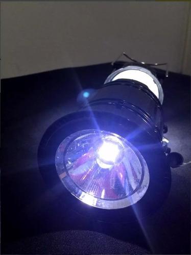 lampiao solar led usb + lanterna bateria recarregavel novo