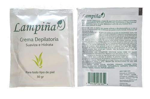 lampiña crema depilatoria 10 sobres