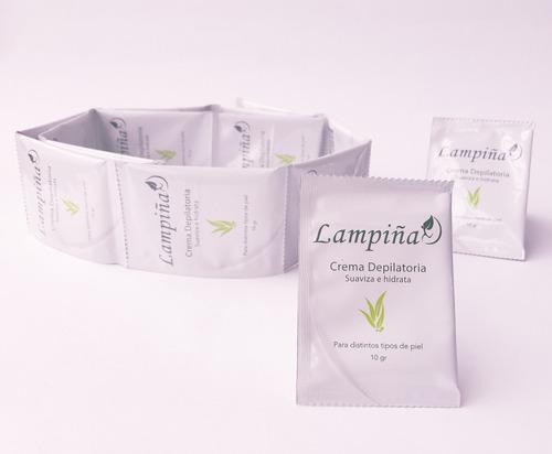 lampiña crema depilatoria caja de 24 sobres de 10 gramos