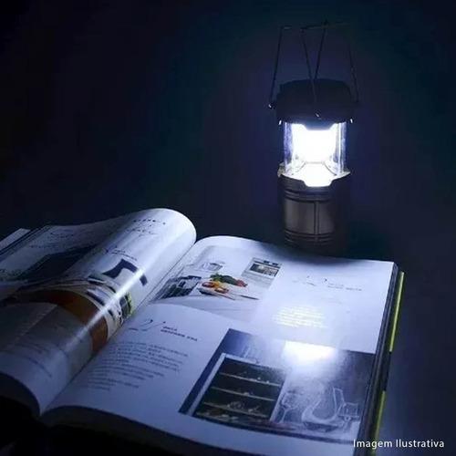 lampião led recarregável eletrico solar