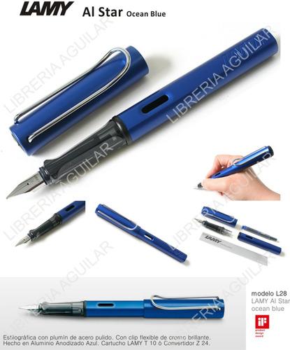 lamy al star lapicera pluma estilografica aluminio 4 colores