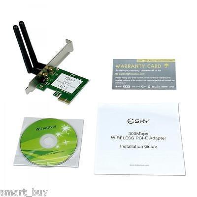 lan inalámbrica pci pci-e adaptador tarjeta 300mbps 802.11 n