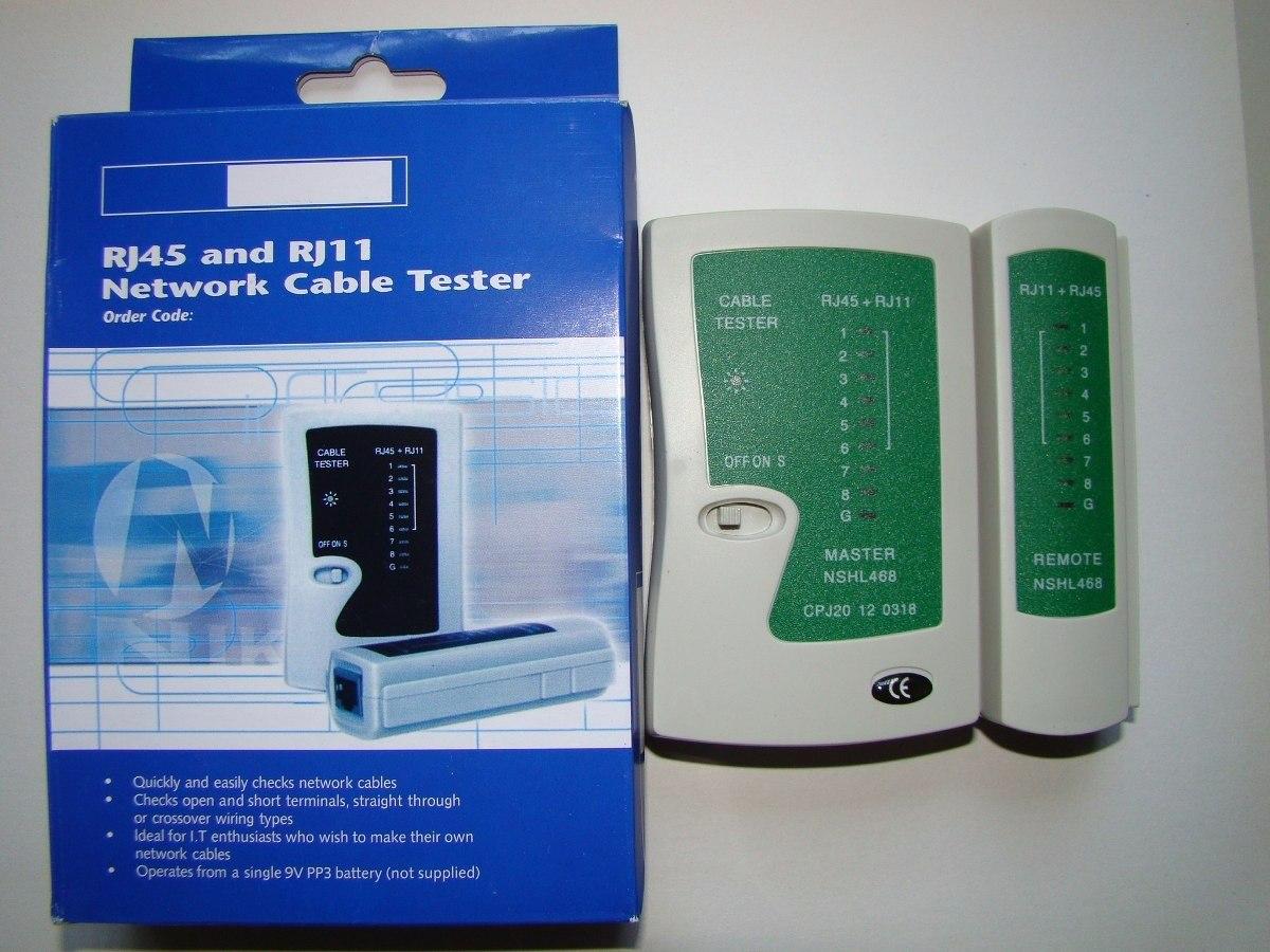 Lan Tester De Rj45 Y Rj11 Probador Cable Red Testeador S 20 Crossover Wiring Cargando Zoom