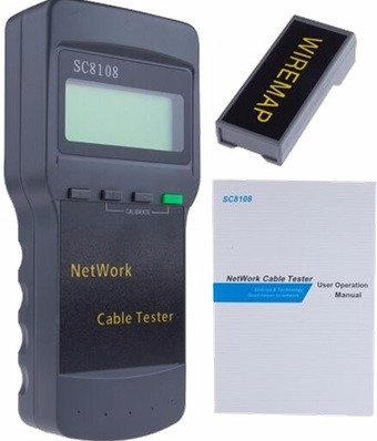 lan tester lcd cables red voz y datos nf-8108