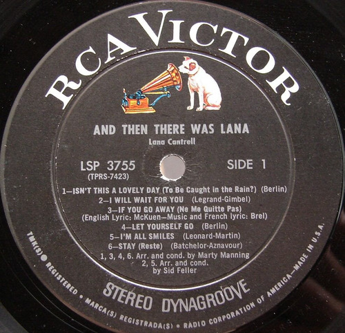 lana cantrell - and then there was lana - lp made usa 1967