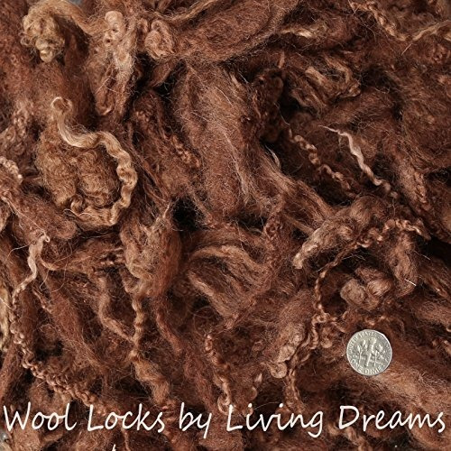 lana de fieltro con cerraduras rizadas para fieltrar agujas,