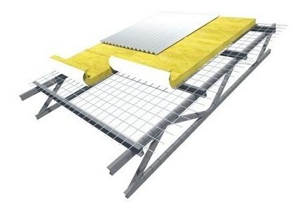 lana de vidrio aislante con aluminio 50mm para techos isover