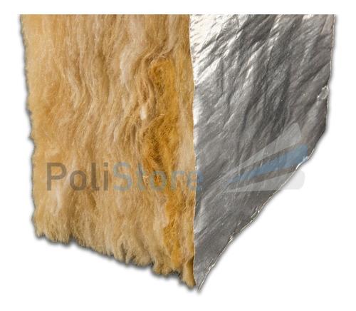 lana de vidrio aluminio 80mm techo de chapa, teja o durlock