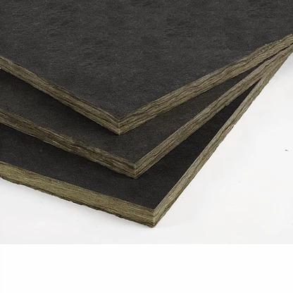 lana de vidrio quiet - r / térmico acústico con velo negro