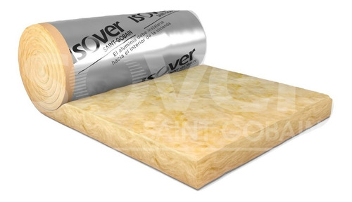 lana de vidrio rolac plata aluminio 80mm cuotas s/int