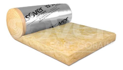 lana de vidrio rolac plata isover 100mm super aislante