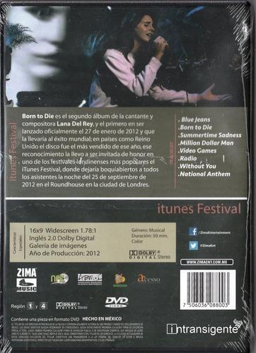 lana del rey - itunes festival 2012 (dvd nuevo sellado)