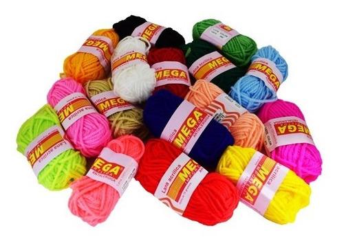 lana escolar x 6 unidades colores surtidos de 16gr cada una