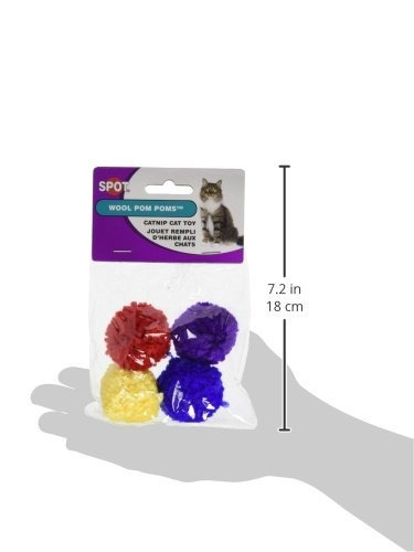 lana éticos poms pom con el juguete del gato hierba gatera,