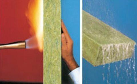 Lana mineral de roca fibra aislamiento t rmico - Placas de aislamiento termico ...