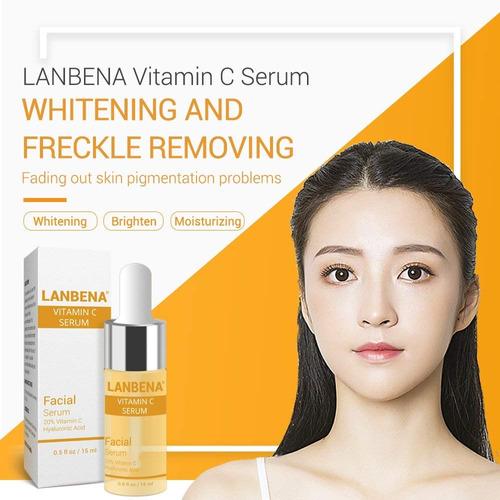 lanbena vitamin c serum eliminar freckle fade dark spot a...