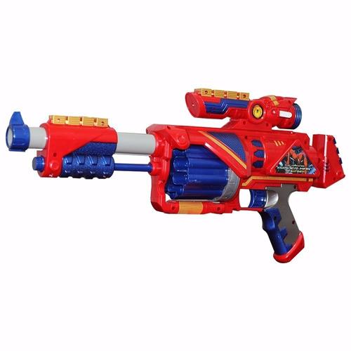 lançador dardos nerf bullet capitão metralhadora + 20 dardos