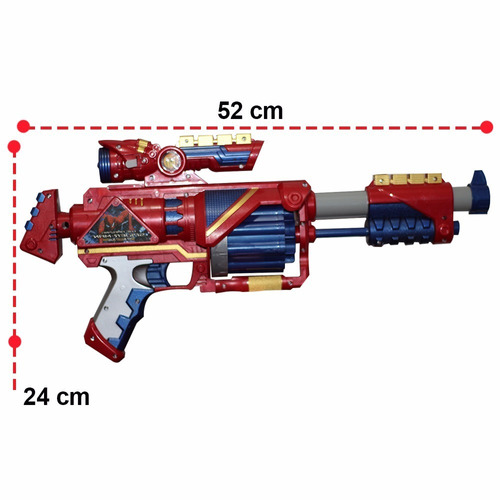 lançador dardos nerf bullet vingadore metralhadora 20 dardos