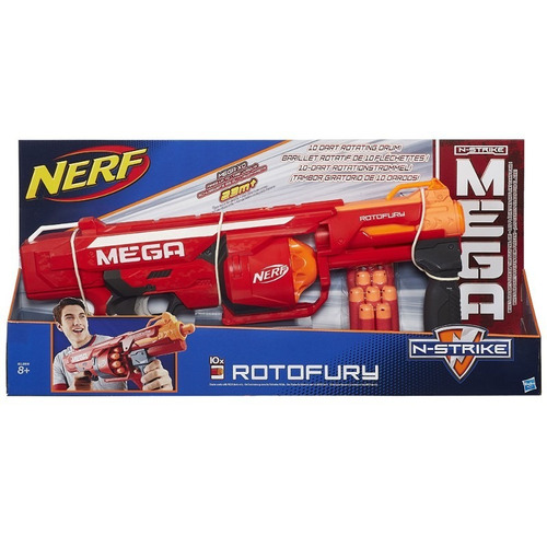 lançador dardos nerf mega rotofury b1269 metralhadora hasbro