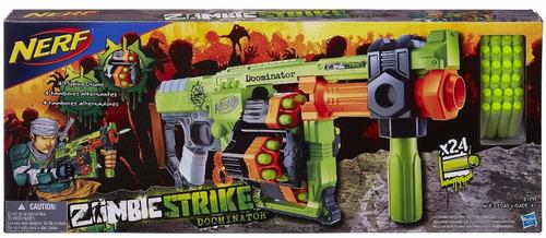 lançador dardos nerf zombie strike doominator hasbro b1533