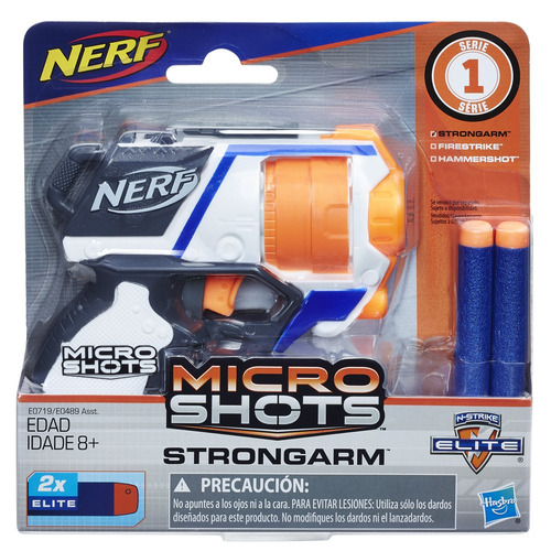 lançador nerf - microshots - strongarm - hasbro