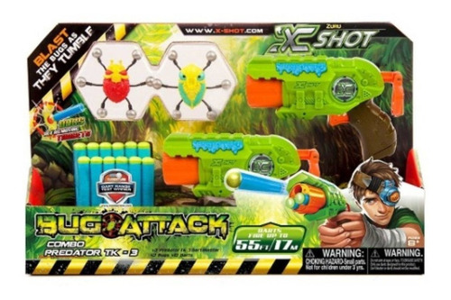 lançadores de dardos x-shot bug attack predator candide
