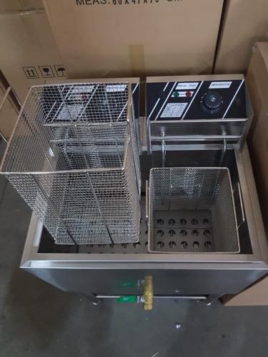 lançamento 2019 fritadeira elétrica industrial cesto fundo