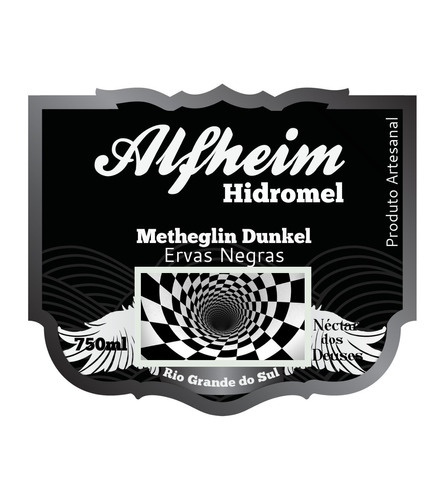 lançamento! alfheim hidromel tipo dunkel ervas negras 750ml!
